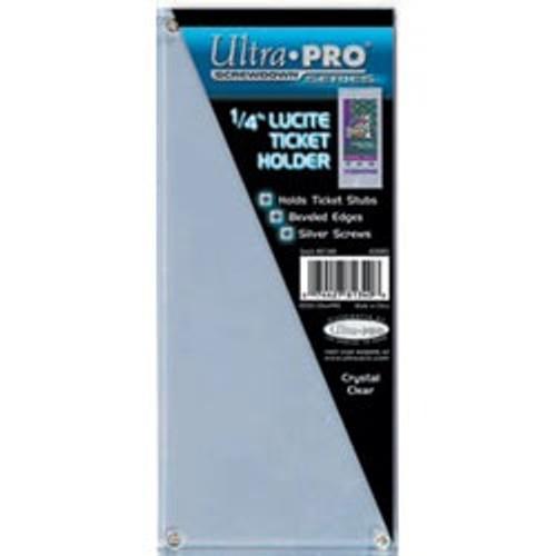 """Ultra-Pro 1/4"""" Lucite Ticket Holder (Screwdown)"""