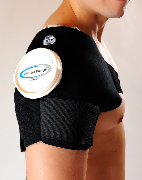Total Ice Therapy Single Shoulder Ice Wrap w/Ice Bags