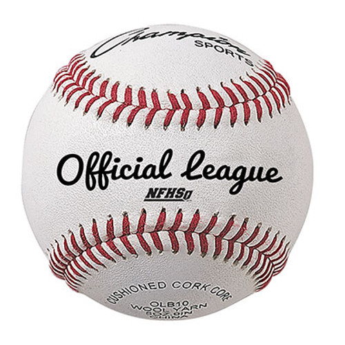 Champion Sports OFFICIAL LEAGUE COWHIDE LEATHER BASEBALL
