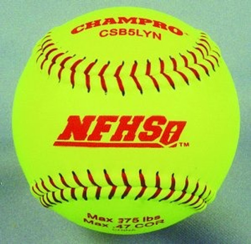 CHAMPRO NFHS Approved 12'' Fast Pitch Competition Game Ball