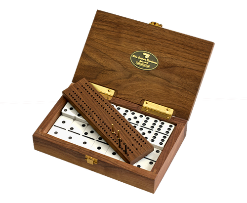 "Alex Cramer""Club 52"" Tournament Domino Set • With Cribbage Board/Counter"
