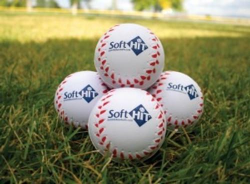 Soft Hit Seamed Foamed Practice Baseballs (Dozen)