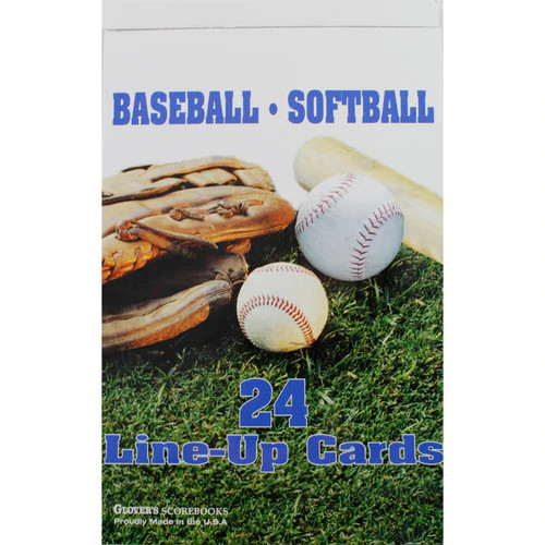Glover's Baseball/Softball Line-Up Cards (24ct)