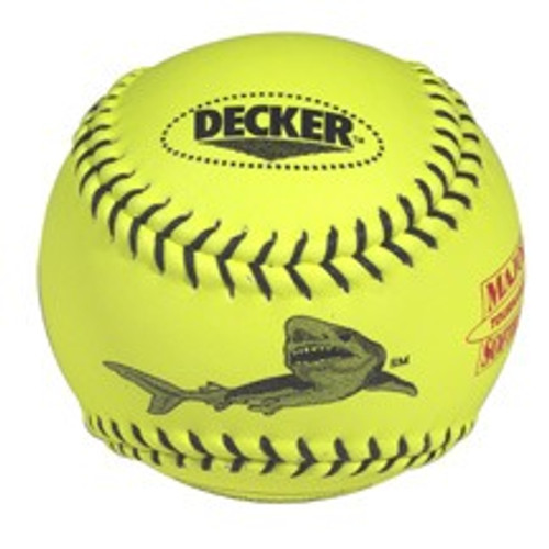 Decker Black Shark 12'' Yellow Leather Fastpitch Softball