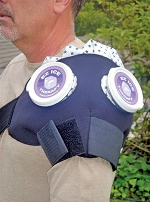 EZ Ice Therapy Double Shoulder Ice Wrap with Ice Bags