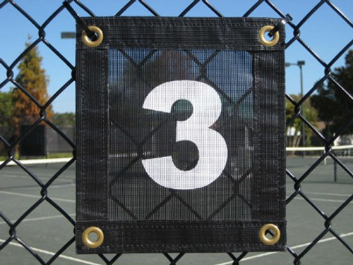 Aer-Flo(R) Tennis Court Numbers