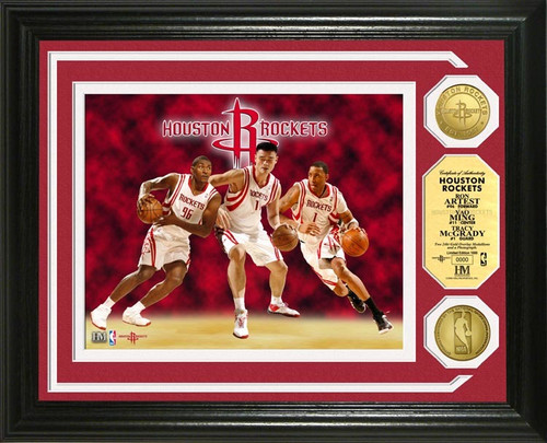 Highland Mint Houston Rockets Big 3 PhotoMint