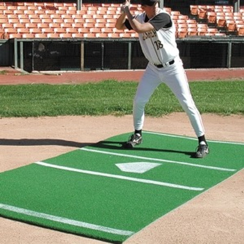 Bermuda Sports Turf 7' x 12' Softball Home Plate Mat (Green) - 01366