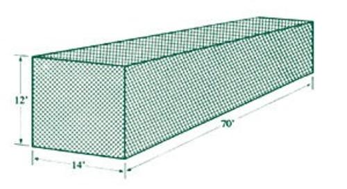 Jugs Batting Cage Netting #1 (70'L x 14'W x 12'H) 381 lb Breaking Strength