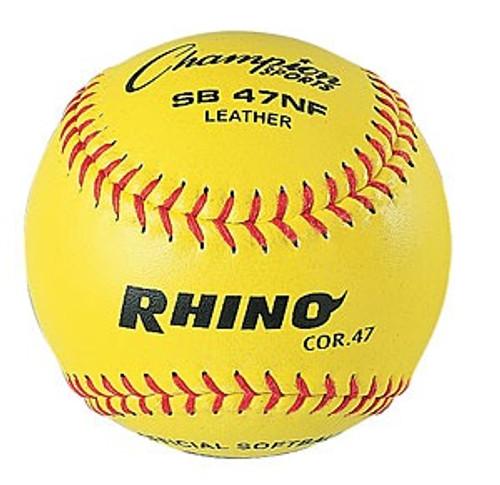 "Rhino SB47NF Optic Yellow 12"" Softballs"