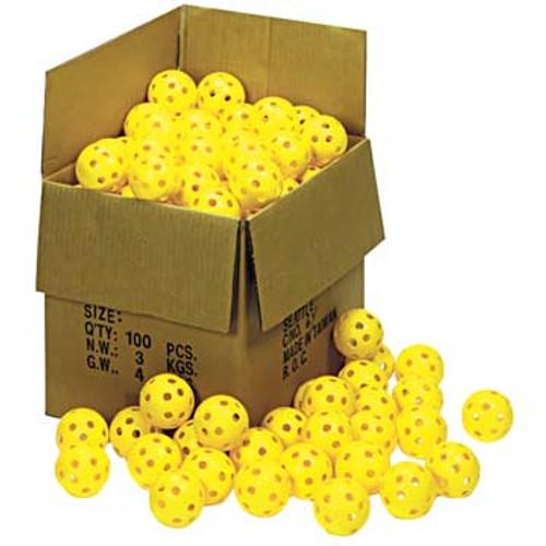 "Case of 100 Markwort 12"" Plastic Softballs"