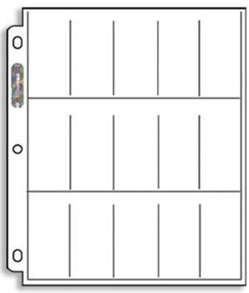 Ultra Pro 15-Pocket Page (Tobacco Cards) - 1 Box