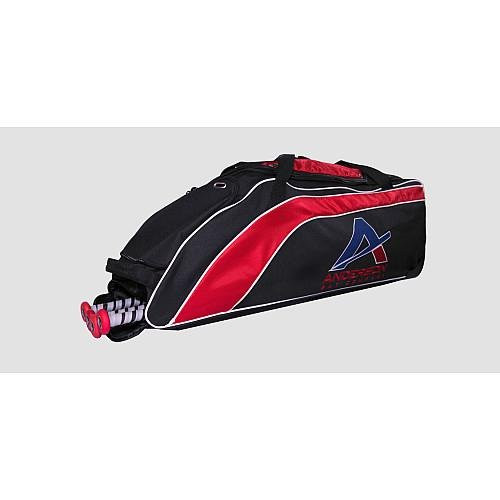 Anderson Bat Company ANDERSON STREAMLINE ROLLER BASEBALL/SOFTBALL BAG BLACK/RED