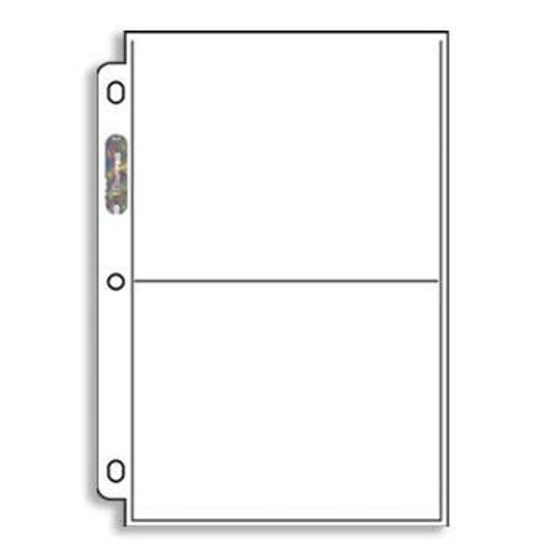 Ultra Pro 2 Pocket Page - (priced per 10)