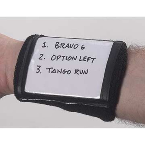 "Markwort Youth Single Play Card Holder Wristband - Black - 5""x3.5"""