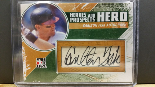 2010 - 11 Carlton Fisk ITG Heroes and Prospects Baseball Hits - Series 2 Autograpgh Card