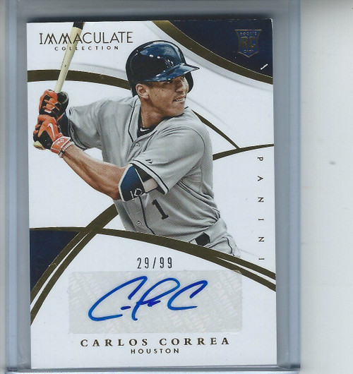 2015 IMMACULATE CARLOS CORREA ROOKIE/RC AUTO #29/99