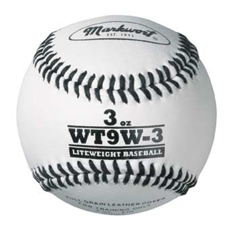 Markwort 3 oz White Leather Weighted Baseballs