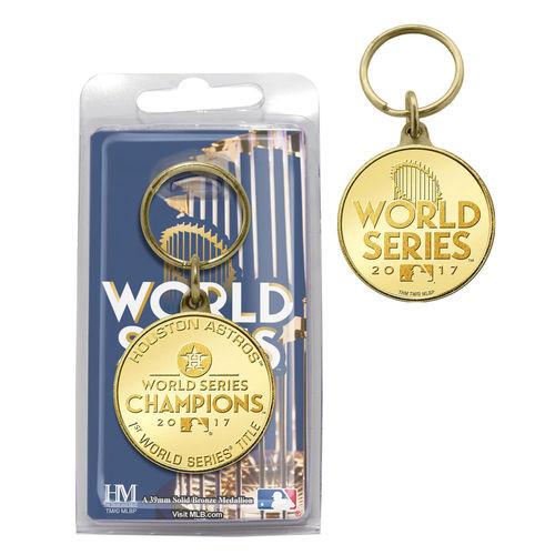 Houston Astros 2017 World Series Champions Bronze Coin Keychain