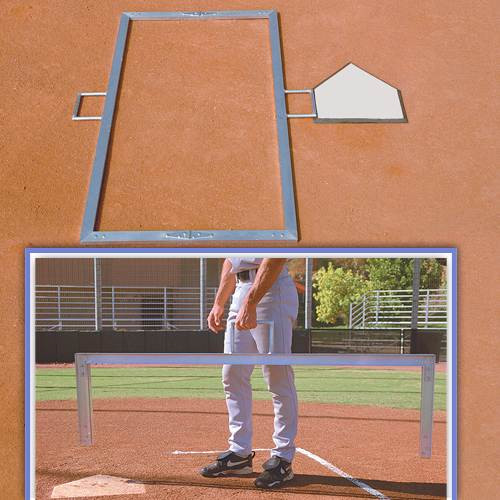 3' x 7' Softball Foldable Batter's Box Templates