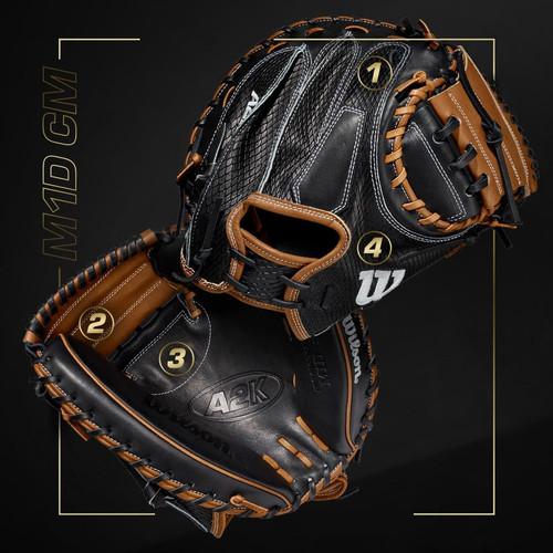 """2021 A2K M1D 33.5"""" Baseball Catcher's Mitt"""