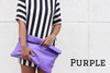 Color Me Roll-Down Leather Statement Clutch - MORE COLORS
