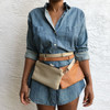 Convertible Crossbody Leather Mini Bag - MORE COLORS