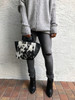 Square Up Bucket Bag - Black Spotted Calf Hair & Leather - 1 LEFT!