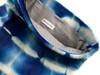RESTOCKED! Calf Hair Roll Down Clutch - Blue & White Tie Dye - 4 LEFT!