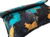 NEW! Acid Wash Calf Hair Roll Down Clutch - Turquoise/Orange/Brown