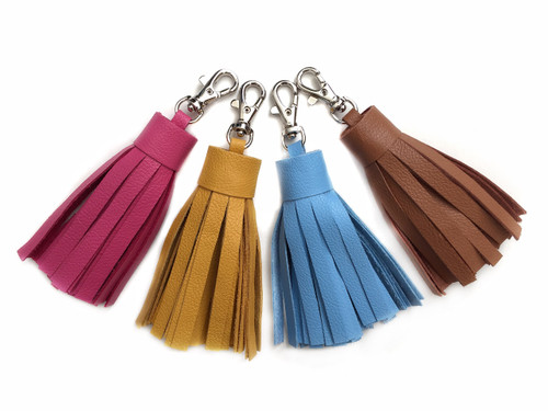 Medium Leather Tassel - MORE COLORS