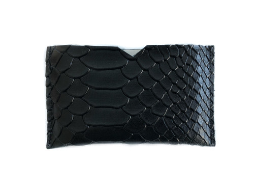 Python Embossed Leather Card Holder