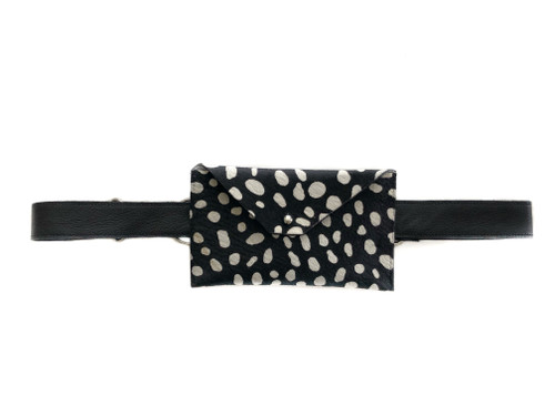 Pocket Calf Hair Mini Waistbag - Reverse Cheetah