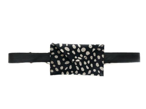 NEW! Pocket Calf Hair Mini Waistbag - Reverse Cheetah