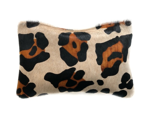 NEW! Large Scale Leopard Calf Hair Clutch
