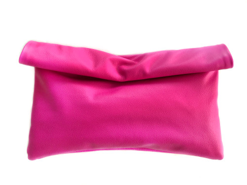 NEW! Neon Roll-Down Leather Clutch - MORE COLORS