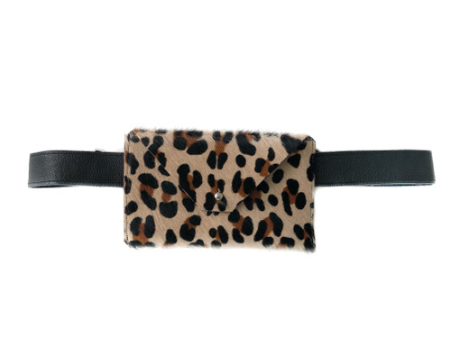 Pocket Calf Hair Mini Waistbag - Mini Leopard