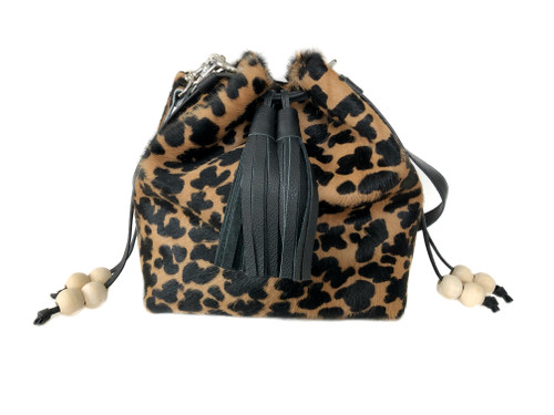 NEW! Boxie Calf Hair Bucket  Bag - Cluster Spot