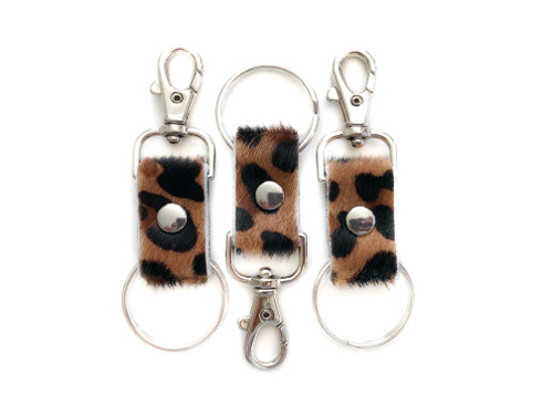 NEW! Leopard Calf Hair Key Chains