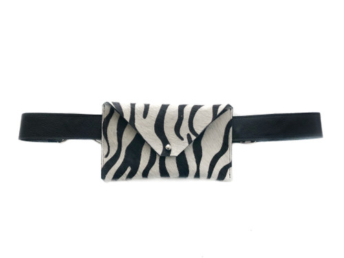 NEW! Pocket Calf Hair Mini Waistbag - Zebra