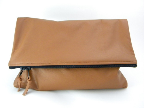 Color Me Foldover Leather Statement Clutch - MORE COLORS