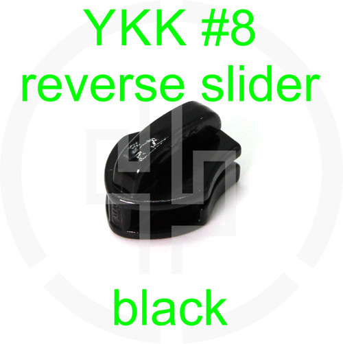 #8 YKK black reverse zipper slider