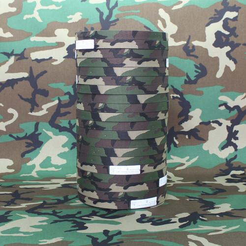 "Murdock M81 woodland jacquard woven webbing 1"" / 25mm PER YARD"