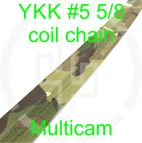 #5 YKK 5/8 Multicam milspec zipper zipper chain (5 yard pack)