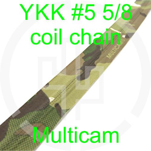 #5 YKK 5/8 Multicam milspec zipper zipper chain (5 yard pack)