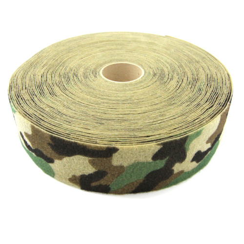 "M81 Woodland Camo Printed Loop 4"" wide per yard"