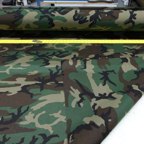 "M81 woodland camo ACRONYM 500D laminate 58"" / 137cm wide PER YARD"