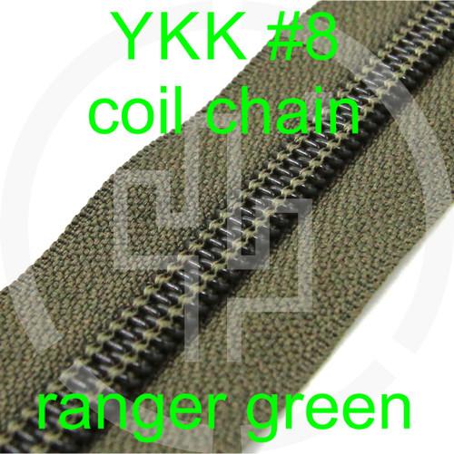 #8 YKK 5/8 ranger green milspec zipper zipper chain