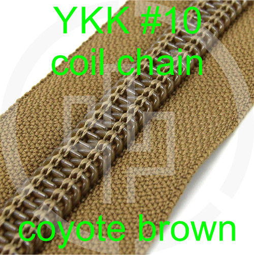 #10 YKK 3/4 coyote brown milspec zipper zipper chain (5 yard pack)