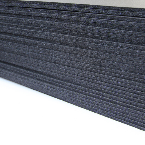 "XLPE Foam .125"" thick, 60"" wide, Berry compliant, black, 2lb, cross linked polyethylene foam"